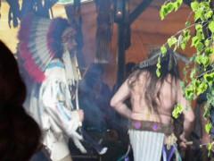 Indianer tanzten trotz Dauerregen
